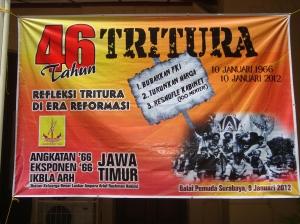Peringatan 46 tahun Tritura di Surabaya