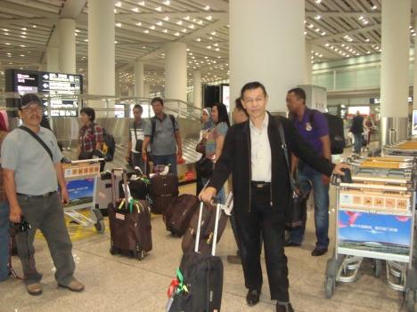 Tiba di Bandara Hongkong