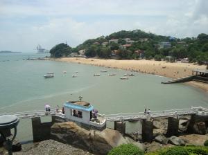 Pantai rekreasi di Pulau Kota Xiamen, China