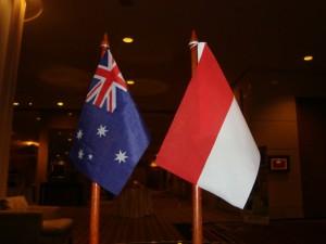 Nendera Australia dan Bendera Indonesia