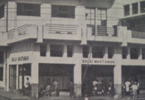 Balai wartawan PWI Surabaya di Jalan Pemuda 42 Surabaya tahun 1952-1958